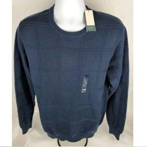 Arrow Blue All Over Squares  Crewneck Sweater